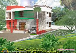 colorful flat roof house plan kerala home design and floor plans