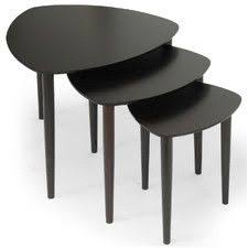 Update your home decor with this versatile set of Griffith Mid-Century Modern  Nesting Tables. Each table is finished with a basswood veneer and solid ...