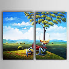 2 pcs hand painted landscape oil painting wall art modern canvas art wall decor with on 2 pc canvas wall art with 2 pcs hand painted landscape oil painting wall art modern canvas art