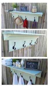 How To Build A Coat Rack Shelf Custom Large Coat Rack Shelf My Repurposed Life
