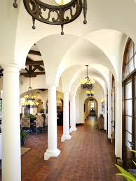 old world entry hall with spanish tile