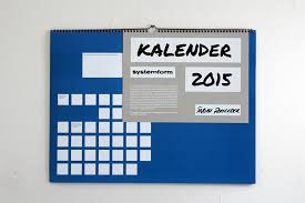 Systemform Calendar 2015 Anje Jager Art Direction Graphic