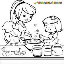 Small Picture Mom Cooking Clip Art Vector Images Illustrations iStock