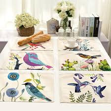 cammitever 2pcs lot traditional chinese painting birds wedding party table decoration linen classic dinner