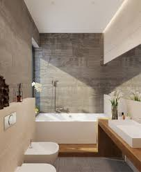 Stone Bathroom Tiles Soft Grey Stone Tiles Continuous Timber Vanity Bath Base And