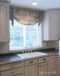 Kitchen Window Treatments Original Wooden Kitchen Cabinet In Front