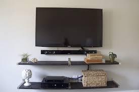 tv wall shelves wall mount tv shelf