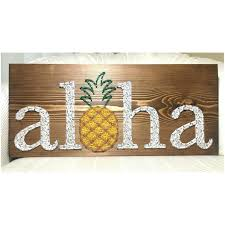 latest wall art decor decals articles wooden tag pertaining to most recent ha hawaiian islands chain wall decor