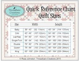 Bedspread Sizes Chart Free Printable Quilt Sizes Threadbare Creations