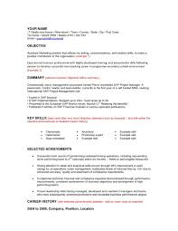 100+ Sample Project Manager Resume Objective | Pleasant Retail ...