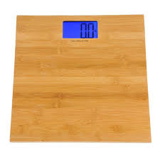 Home Bathroom Scales Kalorik 13 In H Electronic Bamboo Bathroom Scale Ebs 37070 The