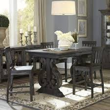 unique bar height kitchen table set e allium way roswell rectangular counter height dining table