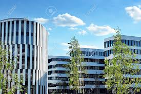 modern office building. Modern Building. Office Building With Facade Of Glass Stock Photo - 79853313