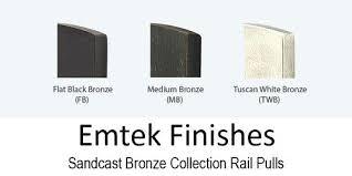 Emtek Finishes Bronze Rail 6 Cc Pull Medium Bronze Finish