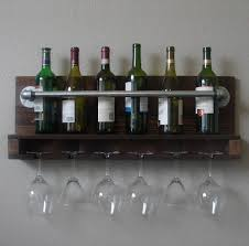 reclaimed wood mug rack urban rustic. Wall-Mount-Wine-Rack-with-6-Glass-Slot- Reclaimed Wood Mug Rack Urban Rustic