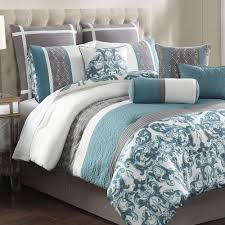 bedroom teal gray adeline embroidered piece bedding set black and bedsp baby bedspread orange