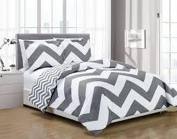 image of grey and white chevron bedding