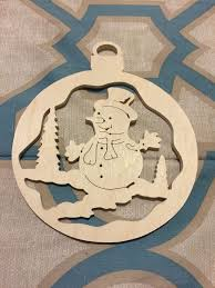 scroll saw christmas ornaments. scroll sawn wooden snowman christmas tree ornament by specialtiescrafts on etsy saw ornaments