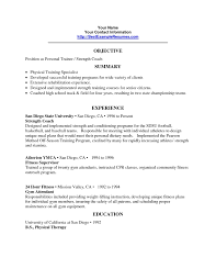 Fitness Resume Objective Magdalene Project Org