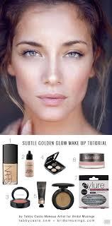 natural makeup golden glow
