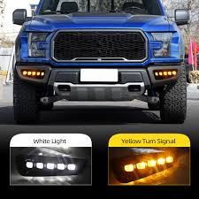F150 Abs Light Comes On And Off Us 69 0 20 Off Cscsnl 1 Set 12v Abs For Ford Raptor Svt F150 2016 2017 2018 Led Drl Daytime Running Lights Daylight With Yellow Turn Signal In Car