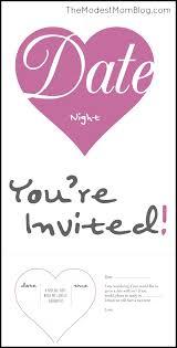 Romantic Date Invitation Template Date Night Invitation Template Maitlive