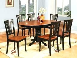 oval dining room table oak and chairs set for 6 7 dinette kitchen home design