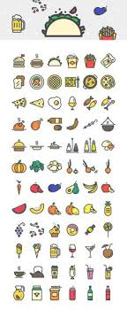 creaticons 216 food beverages vector icons basic icons flat icons 1000