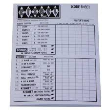 kismet game sheets kismet score pad by endless games game supplies at areyougame com