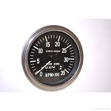 stewart warner stewart warner tachometer 3500 rpm chm bezel 5 more views