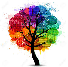 Tree Design Abstract Colorful Tree Design Background And Banner Royalty Free