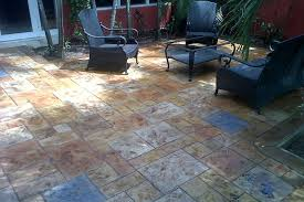 flooring ideas wooden floor over concrete in a design of patio