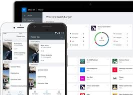 Office planner Board Tablet Desktop Pc And Smartphone Showing Microsoft Planner In Use To Organize Teamwork Microsoft Office Office 365 Task Management For Teams Microsoft Planner