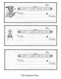 printable gift certificate free