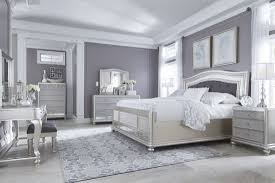 Ashley Furniture Coralayne Panel Bedroom Set in Silver | Best Priced ...