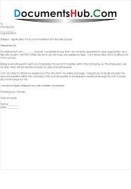 Application Letter For Residence