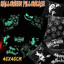 Happy <b>Halloween</b> Pillow Covers Horror <b>Luminous</b> Pillowcase ...