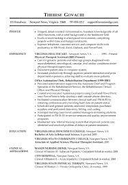 Admin Job Profile Resume Resume Sample Administrative Assistant Receptionist Job