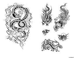 эскизы тату змей