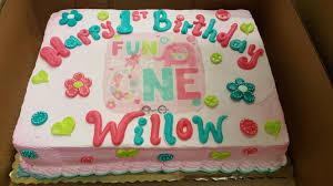 Its Fun To Be One Girls 1st Birthday Sheet Cake Calumet Bakery