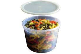 round plastic heavy duty soup container w lid combo