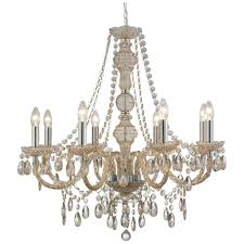 8888 8mi marie therese 8 light mink coloured chandelier