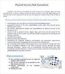 Security Risk Assessment Template Enchanting Physical Security Risk Assessment Report Template 44 Professional