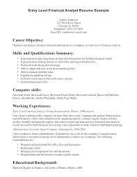 Financial Resume Entry Vel Template Download Impressive Objective 2