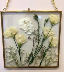 pressed glass frame pressed flowers in a hanging or desktop glass frame pressed glass frame target pressed glass frame real pressed flower