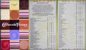 Nutrition Charts For Restaurants Calorielab Cheesecake Factory Calorie Counter