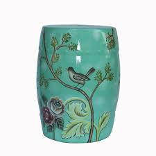 ceramic garden seat. fashion chinese style decoration flower and bird design ceramic garden stool seat c