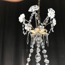 Kristall Kronleuchter Und Porzellan Capodimontea 12 Leuchten