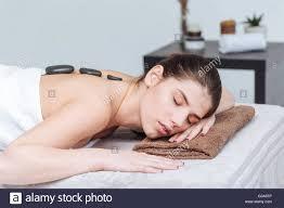 Sensual massage in salon