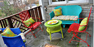 colorful painting wicker furniture